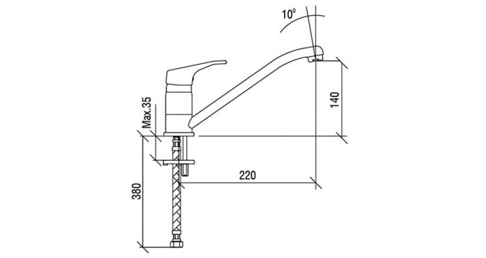Faucet-Series-ALLEGRO-teknikcizim