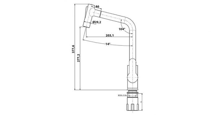 Faucet-Series-BANDO-Granite-teknikcizim