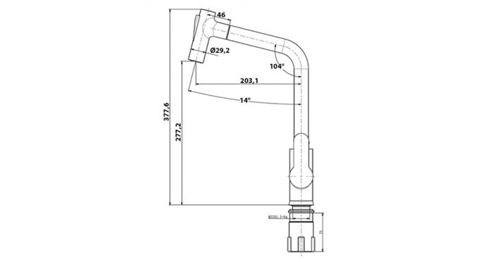 Faucet-Series-BANDO-teknikcizim
