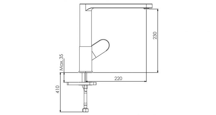 Faucet-Series-FUOCO-teknikcizim