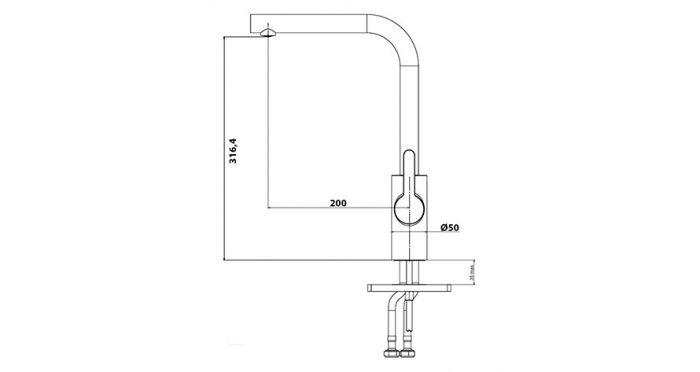 Faucet-Series-TEMPO-Granite-teknikcizim