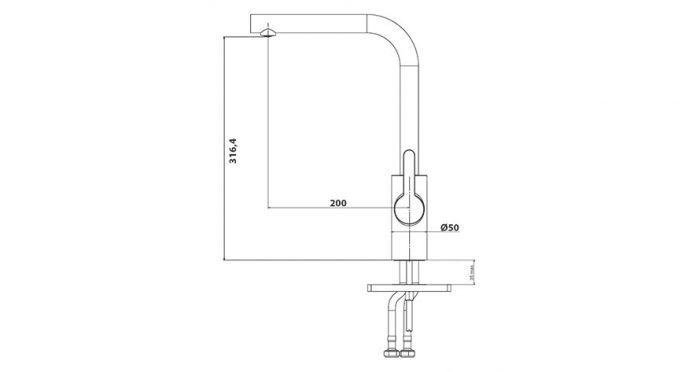 Faucet-Series-TEMPO-teknikcizim