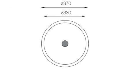 Lavatory-Series-L-370-teknikcizim