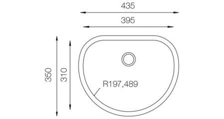 Lavatory-Series-L-435-teknikcizim