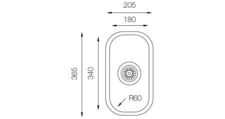 Undermount-D-180-teknikcizim