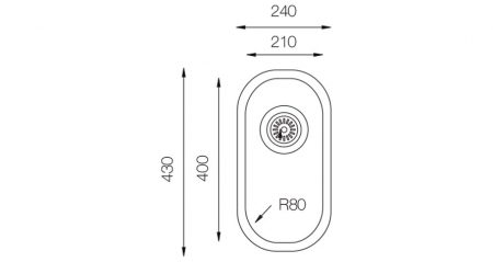 Undermount-D-210-teknikcizim