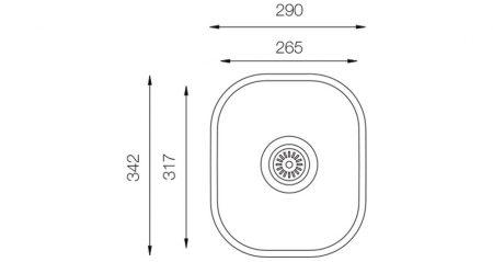 Undermount-D-265-teknikcizim