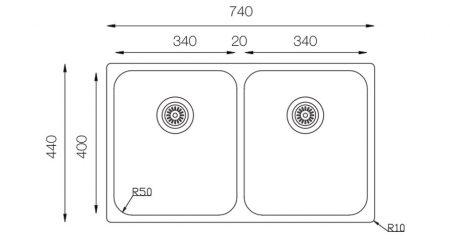Undermount-D-340-50-50-teknikcizim