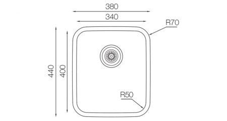 Undermount-D-340-teknikcizim