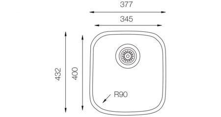 Undermount-D-345-teknikcizim