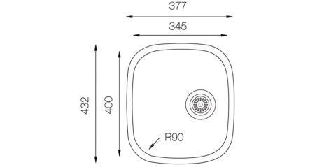 Undermount-D-346-teknikcizim