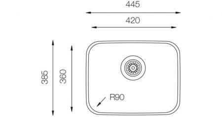 Undermount-D-360-teknikcizim