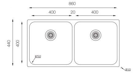 Undermount-D-400-50-50-teknikcizim