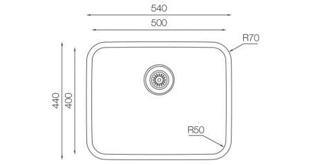 Undermount-D-500-teknikcizim