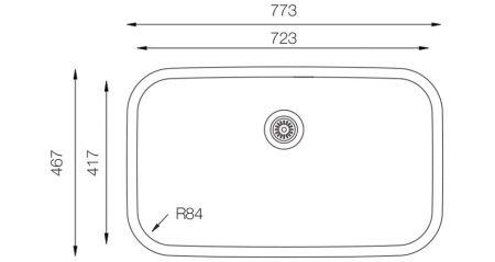 Undermount-D-723-teknikcizim