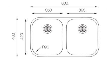 Undermount-EDD-360-50-50-teknikcizim