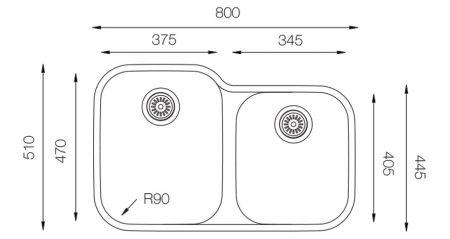 Undermount-EDD-375-60-40-teknikcizim