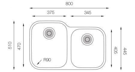 Undermount-MN-375-60-40-teknikcizim